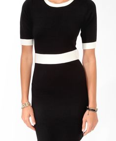 Contrast Trimmed Sweater Dress   FOREVER21 - 2025102251