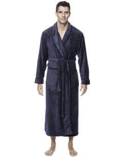 Men's Premium Coral Fleece Full Length Plush Spa/Bath Robe