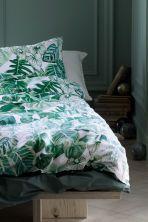 Leaf-patterned duvet cover set | H&M