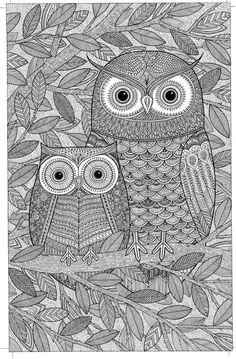 Owls By James Newman Gray - (advocate-art) Owl Coloring Pages, Coloring Book Art, Doodle Art Drawing, Dark Art Drawings, Mandala Art Lesson, Madhubani Art, Indian Folk Art, Madhubani Painting, Zentangle Patterns