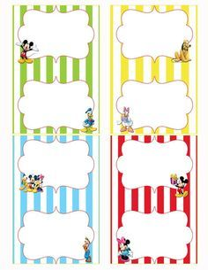 Mickey Mouse Clubhouse Birthday Party Food Labels!