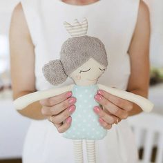 READY TO SHIPP Rag Doll Sleeping Princess Stuffed Toy by Miusla