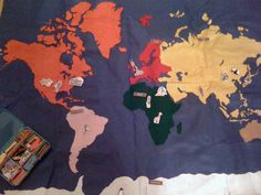 Make your own felt world map--instructions and files included!
