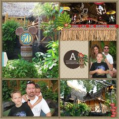 Tiki Room (right) Pocket style Project Life scrapbooking Disney using Project Mouse digital supplies