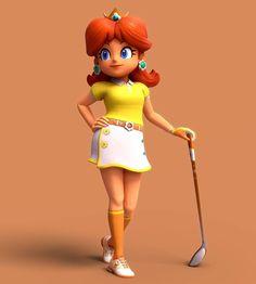 Cute Princess, Princess Peach, Princesa Daisy, Nintendo Princess, Daisy Art, Mario Kart 8, Video Game Characters, Super Mario Bros, Band