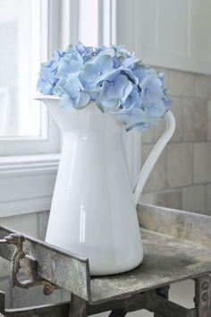 My love for hydrangeas and ceramic  jugs