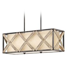 Kichler Lighting Cahoon Island Light with Rectangle Shade at Destination Lighting Rustic Pendant Lighting, Rectangle Light Fixture, Light, Chandelier Over Island, Lighting, Island Lighting, Kichler Lighting, Rectangle Chandelier, Chandelier