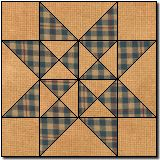 quilt block ... Solitaire ... blog has tutorials for cloth blocks ... some can be done in paper for cards ... very complete groups of star blocks ...