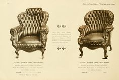 """""""Prufrock's, manufacturers of Leather Upholstered Furniture. 1900 and 1901. St. Louis, Mo."""" (80 pages, full text online)"""