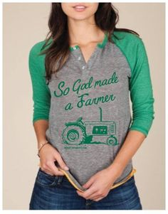 So God Made A Farmer Baseball Tee - Back at the Ranch  www.titanoutletstore.com