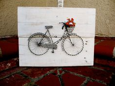 Vintage Bicycle String Art