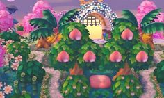 ornate landscaping tropical peaches lights PWP path qr