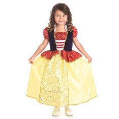 Little Adventures Gold Trimmed Snow White Costume - LITL067 Prinsessa  Klänningar 310c17cdb55d2
