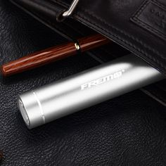 Amazon.com: Fremo Mini 3200mAh External Battery Pack With Flashlight Compact Lipstick Size Portable Power Bank Backup Charger - Travel Charger - Retail Packaging - Silver: Cell Phones & Accessories