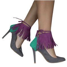 Make me fringe! Shoe Cupboard, Refashion, Fashion Hacks, Fashion Tips, Stiletto Heels, Footwear, Booty, Fancy, Ankle