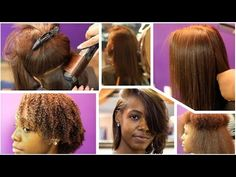 AMBER RED + BODY CURLS ON NATURAL HAIR | #SalonWork - YouTube
