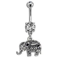 Byzantium Elephant Belly Button Ring