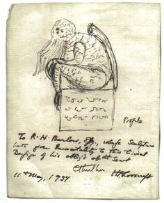 Lovecraft's original drawing of Cthulhu.
