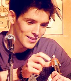 Colin's Merlin action figure... and I have one now... well, not Colin, obviously... but a Merlin action figure. :D
