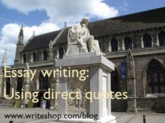 Essay writing: Using direct quotes Rent or Purchase WriteShop curriculum from Yellow House Book Rental https://www.yellowhousebookrental.com