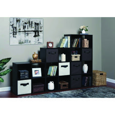 OneSpace 48 in. Espresso Wood Cube Bookcase with Open Back - The Home Depot Cube Bookcase, Cube Shelves, Cube Storage, Porch Storage, Storage Spaces, 8 Cube Organizer, Playroom Organization, Diy Entertainment Center, Contemporary Decor