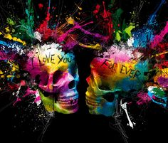 I Love You For Ever, mixed media by Patrice Murciano