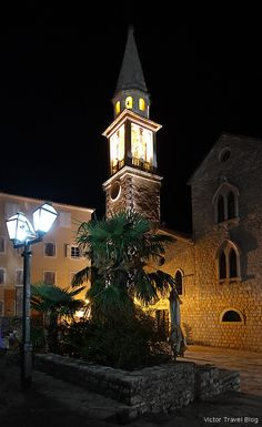 Again in Budva Old Town or Mild Winter on the Adriatic Shore Fishing Villages, Montenegro, Old Town, The Locals, Night Life, Big Ben, Old Things, City, Building