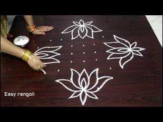 beautiful lotus kolam designs with 11 dots Rangoli Designs Flower, Rangoli Border Designs, Rangoli Designs With Dots, Rangoli Designs Images, Flower Rangoli, Rangoli With Dots, Beautiful Rangoli Designs, Simple Rangoli, Free Hand Rangoli Design