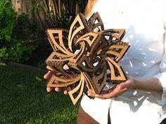 How-To: Frabjous cardboard geometry sculpture
