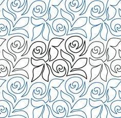 """Rose Garden - Paper - 6"""" - Quilts Complete - Continuous Line Quilting Patterns"""