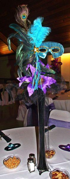 Masquerade Centerpiece! Perfect for my future wedding reception.