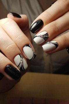 #white #manicure #black #nails #love #nailart #gelnails #nail #naildesign #art #beauty #beautiful #gelpolish #nailswag #style #nailpolish #gel White Manicure, Swag Nails, Gel Polish, Gel Nails, Nail Designs, Nail Art, Beautiful, Beauty, Style