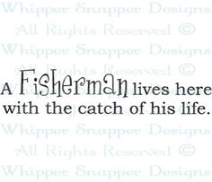Catch of His Life - Fishing/Camping - Rubber Stamps - Shop