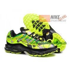 classic fit ad036 564e8 Nike Air Max Plus Tn Requin 2015 Chaussures de Basketball Pour Homme Noir  Vert