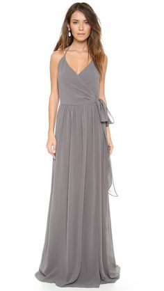 What do you think about Smoke on the Water color? Joanna August DC Halter Wrap Dress