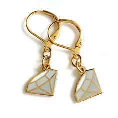Diamond Dangle Earrings by Mehoi