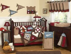 Baby Boy Sports Nursery | sports baby crib bedding nursery themes sets
