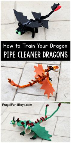 How to Train Your Dragon Craft – Felt and Pipe Cleaner Dragons. Awesome craft for kids! How to Train Your Dragon Craft – Felt and Pipe Cleaner Dragons. Awesome craft for kids! Crafts To Do, Diy Crafts For Kids, Projects For Kids, Easy Crafts, Art For Kids, Space Projects, Beer Crafts, Craft Beer, Diy Projects