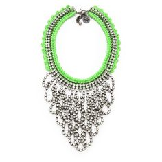 Venessa Arizaga Green Lightning Necklace ($395) ❤ liked on Polyvore