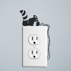 Animal Sticker Wall Light Wall Stickers Vinyl Decor Decals Black ...