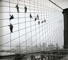 Hanging out on the Brooklyn Bridge.