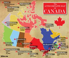 The Auto-Complete Map of Canada - click for a bigger version!