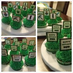 March 2014 - Minecraft cupcakes