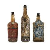 Found it at Wayfair - 3 Piece Reclaimed Hand-Painted Decorative Bottle Set