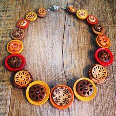 Button necklace $45 AUD