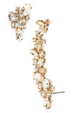 Free shipping and returns on Marchesa 'Drama' Crystal Ear Crawler & Stud Earring at Nordstrom.com. Clusters of radiant crystals illuminate a mismatched pair of earrings,…
