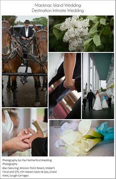 Mackinac_Island_Intimate_Wedding rain day photo collage