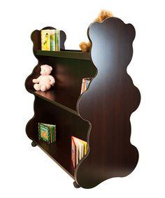 Espresso Bear Mobile Double-Sided Bookcase #zulily #zulilyfinds