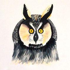 Owl Acrylic on Canvas