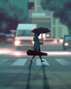 Petite animation réalisé d'après une illustration de GUWEIZ ( http://guweiz.deviantart.com/art/After-Practice-641751227 ) et sur un échantillon d'une musique de Petit Biscuit ( http://www.deezer.com/album/13039372 )